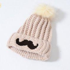 Baby Boys Girl Kids Lovely Balls Hat Knit Sweater Cap Winter Ear Warm Hat  Tricot Enfant 31970d4e5b3