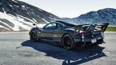 Pagani Zonda LM Coupe in the Alps [2048x1152]