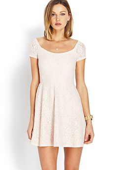 Sweet Lace Off-The-Shoulder Dress | FOREVER21 - 2000065083. Must have in red, like Lydia from Beetlejuice!