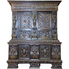 18th Century Italian Antique Walnut Cabinet