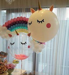 101 fiestas: 15 lindos centros de mesa de unicornio