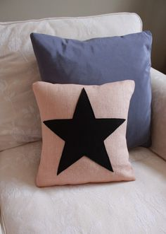 Throw pillows for his bed