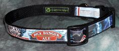 Adjustable Dog Collar from Recycled Dick's Brewing Dick Danger Ale Beer Labels by squigglechick on Etsy