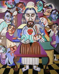 Children A Gift From God Print Poster Jesus Angels Christian Art Anthony Falbo