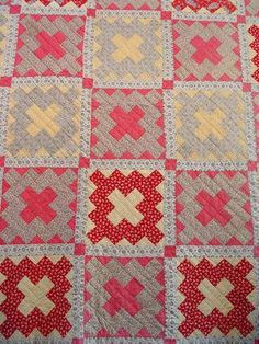 antique quilt granny square