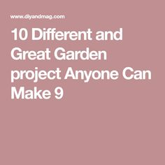 10 Different and Great Garden project Anyone Can Make 9