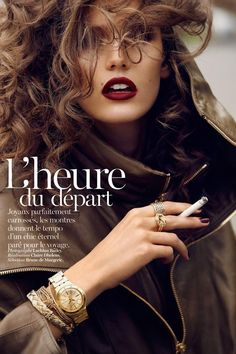 """""""L'heure du départ"""", Vogue Paris november 2012  photo by Lachlan Bailey  model Kendra Spears"""