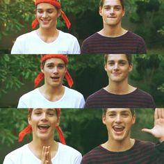 """Jack and Finn Harries """"why can't I wear a bandana?!"""" Haha"""