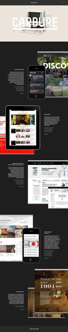 Very nice portfolio site by digital workshop Carbure.