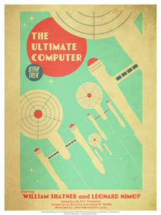 "Star Trek: The Original Series Art Prints. $34.95.  Episode 53: The Ultimate Computer. Ortiz wanted to be sure to credit not just the lead actors, but the writers and director as well. He says, ""They are, after all, the creators. I'm just interpreting their words and visuals in a different format."" #USSEnterprise #StarTrek"
