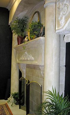 Tuscan Stone Mantel