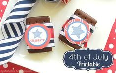 Free 4th of july printables - great for BBQ or parties #4thofjuly #printables #4th_of_july