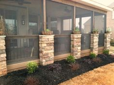 Screened in Porch Design Ideas .Best Screened in Porch Design Ideas . Screened Porch Designs, Screened In Patio, Back Patio, Backyard Patio, Front Porch, Enclosed Patio, Back Porch Designs, Sloped Backyard, Small Patio