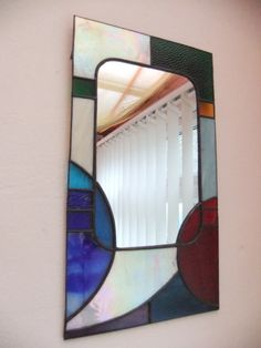 Stained Glass Art Deco Mirror
