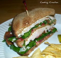 Turkey and Bacon Club Sandwich     Cooking Creation