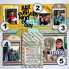 #papercraft #scrapbook #layout A 'Project life' style page using Tanya leigh Designz products and a lot of Studio Calico!