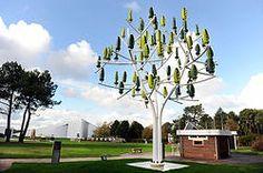 L'albero Eolico che produce energia di Parigi.  #Eolic #Design #Future #Energy #Wind #Tree