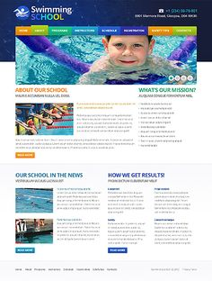 Swimming Swim Website Templates by Mercury