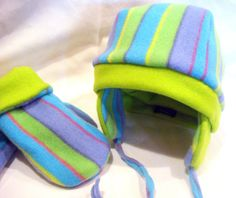 Childrens Hat and Mittens Set size 6 by uniquelynancy on Etsy, $20.00