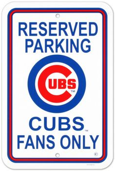 Chicago Cubs Parking Sign Wall sign