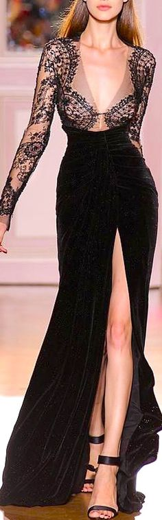 Zuhair Murad. I like the dress, but, is it just me or are her boobs hanging way too low?