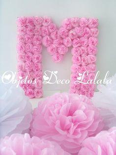 letras y numeros flores cumple bautismo 15 años casamientos