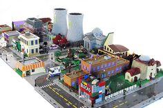 Matt De Lanoy Creates an Impressively Detailed LEGO Springfield #lego trendhunter.com