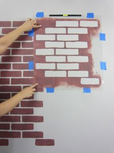 Learn how to stencil the Brick Allover pattern on an accent wall. http://www.cuttingedgestencils.com/bricks-stencil-allover-pattern-stencils.html