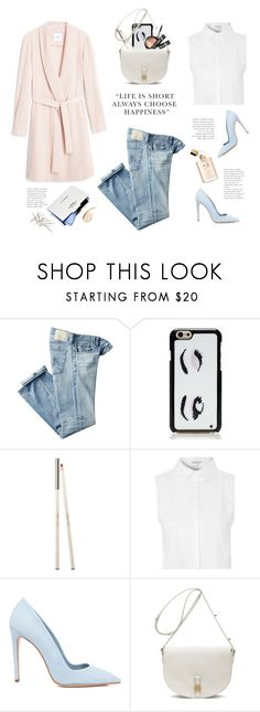 """..."" by yexyka ❤ liked on Polyvore featuring AG Adriano Goldschmied, Kate Spade, New CID Cosmetics, Glamorous, Dee Keller, Mulberry, Burberry and dusterjacket"