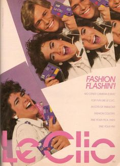 Best Fashion Look : Le Clic camera ad, 1986 I had one of these. It took the crappiest pictures. Le Clic camera ad, 1986 I had one of these. Good Advertisements, Retro Advertising, Retro Ads, Vintage Humor, Vintage Ads, 80s Ads, Vaporwave Fashion, Retro Makeup, 80s And 90s Fashion