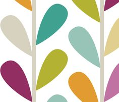 If By Air - Leaves, Bright - Large Scale fabric by ttoz on Spoonflower - custom fabric