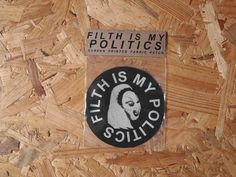 Filth is my Politics fabric patch - Divine / John Waters by BlackLodgePress on Etsy https://www.etsy.com/listing/384644292/filth-is-my-politics-fabric-patch-divine