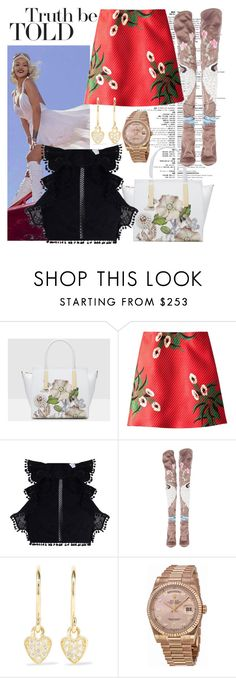"""""""Postcard"""" by raincheck ❤ liked on Polyvore featuring Ted Baker, Marni, Zimmermann, Tom Ford, Jennifer Meyer Jewelry and Rolex"""