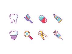 Dentist Icons designed by Vecteezy. Connect with them on Dribbble; Tooth Icon, Listerine, Magnifying Glass, Icon Pack, Screenprinting, Icon Set, Icon Design, Line Art, Teeth