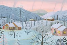 Another brilliant piece from our issue six cover artist Bjorn Rune Lie. Love this wintry cabin illustration