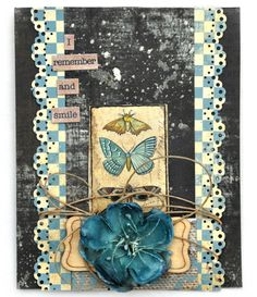 Flying Unicorn June Card made with papers from Riddersholm.  This collection is called Tailgate Marked.