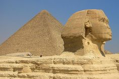 The Great Sphinx of Giza and the pyramids of Egypt