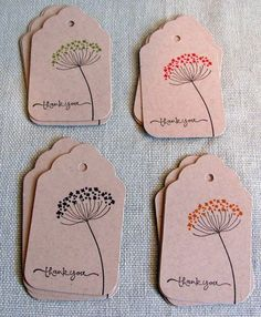 handmade tags Ideas Craft Paper Label Gift Tags For 2019