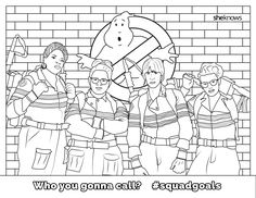 Cool Ghostbusters Members Coloring Page Online Printable Fun