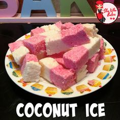 I LOVE coconut ice. I always used to get a bar of it when my mum and I used to go to the beach when I was a little girl. This recipe is so simple, it requires no baking and only. Freezer Desserts, Just Desserts, Jello Recipes, Baking Recipes, Coconut Ice Recipe, Yummy Treats, Sweet Treats, No Bake Chocolate Cheesecake, Mesas