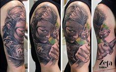 tatuaje,portrait,draw,drawing,tattoos,tattoo,tatuaje,tatuajes,tauriel,warrior,archer,archer tattoo,the lord of the rings, el señor de los anillos