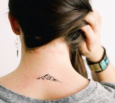 This mountain range:   68 Beautiful Temporary Tattoos You'll Want To Keep Forever