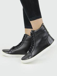 Wills -  Vegan Vegetarian Non-Leather Womens Sneaker boots black