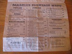 Farrell's menu