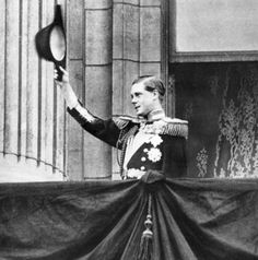 H.R.H. Prince Edward, Prince of Wales, (later H.M. King Edward VIII/H.R.H. Prince Edward, Duke of Windsor), shown on the balcony of Buckingham Palace. January 1st, 1936. He would become King less than a month later, and abdicate eleven months after that.