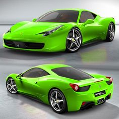 Ferrari italia in lime green
