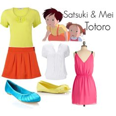 """Satsuki and Mei - Totoro"" by teamrocketme on Polyvore"