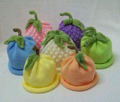 gorrito bebe frutas