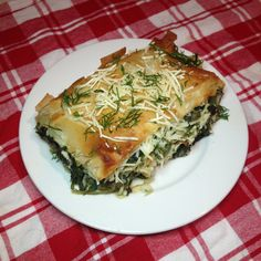 Vegan Spanakopita Recipe  Using easily available cheese alternatives, this delicious pastry adds green beans to the classic spinach filling for some bonus round greenery!