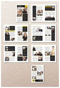 Modern Newsletter Template is professional, fresh and clean InDesign template. It is for designers working on newsletter or based on the projects. Newsletter Design Templates, Newsletter Layout, Booklet Design, Page Layout Design, Magazine Layout Design, Book Layout, Design Design, Web Layout, Minimal Web Design